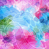 Vector abstract hand-drawn waves texture Royalty Free Stock Photo