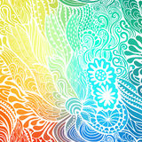 Vector abstract hand-drawn waves texture, wavy background. Colorful waves backdrop Stock Image