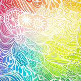 Vector abstract hand-drawn waves texture, wavy background. Colorful waves backdrop Royalty Free Stock Photography