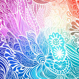 Vector abstract hand-drawn waves texture, wavy background. Colorful waves backdrop Stock Photos