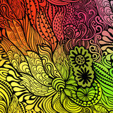 Vector abstract hand-drawn waves texture, wavy background. Colorful waves backdrop Stock Photography