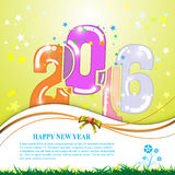 Vector abstract 2016 happy new year banner design celebrate concept. Eps 10 vector Royalty Free Stock Images
