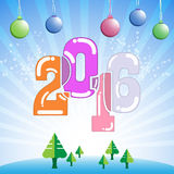 Vector abstract 2016 happy new year banner design celebration concept. Eps 10 vector Stock Images