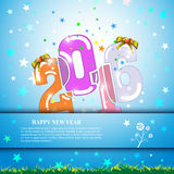 Vector abstract 2016 happy new year banner template design Royalty Free Stock Photo