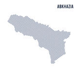 Vector abstract hatched map of Abkhazia isolated on a white background. Royalty Free Stock Photos