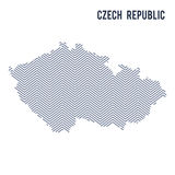 Vector abstract hatched map of Czech Republic isolated on a white background. Travel illustration royalty free illustration
