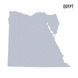 Vector abstract hatched map of Egypt isolated on a white background. Royalty Free Stock Photos