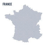 Vector abstract hatched map of France isolated on a white background. Royalty Free Stock Photo
