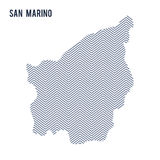Vector abstract hatched map of San Marino isolated on a white background. Travel illustration stock illustration