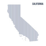 Vector abstract hatched map of State of California with vertical lines isolated on a white background. Travel vector illustration Royalty Free Stock Photo