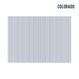 Vector abstract hatched map of State of Colorado with vertical lines isolated on a white background. Travel vector illustration Stock Photo