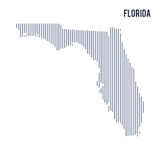 Vector abstract hatched map of State of Florida with vertical lines isolated on a white background. Travel vector illustration vector illustration