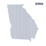 Vector abstract hatched map of State of Georgia with vertical lines isolated on a white background. Travel vector illustration Royalty Free Stock Photography