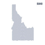 Vector abstract hatched map of of State of Idaho with curve lines isolated on a white background. Travel vector illustration royalty free illustration