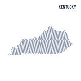 Vector abstract hatched map of State of Kentucky isolated on a white background. Royalty Free Stock Photos
