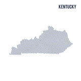 Vector abstract hatched map of State of Kentucky with spiral lines isolated on a white background. Stock Photography
