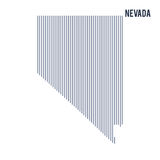 Vector abstract hatched map of State of Nevada with vertical lines isolated on a white background. Travel vector illustration vector illustration