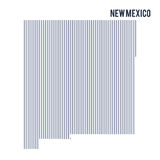 Vector abstract hatched map of State of New Mexico with vertical lines isolated on a white background. Travel vector illustration vector illustration
