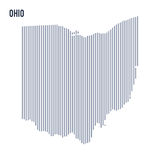 Vector abstract hatched map of State of Ohio with vertical lines isolated on a white background. Travel vector illustration vector illustration