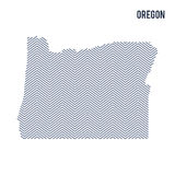 Vector abstract hatched map of State of Oregon isolated on a white background. Stock Images
