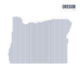 Vector abstract hatched map of State of Oregon with vertical lines isolated on a white background. Travel vector illustration royalty free illustration