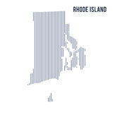 Vector abstract hatched map of State of Rhode Island with vertical lines isolated on a white background. Travel vector illustration stock illustration