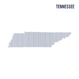 Vector abstract hatched map of State of Tennessee with vertical lines isolated on a white background. Travel vector illustration vector illustration