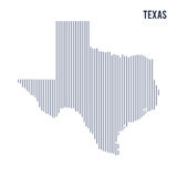 Vector abstract hatched map of State of Texas with vertical lines isolated on a white background. Travel vector illustration stock illustration