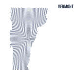 Vector abstract hatched map of State of Vermont with spiral lines isolated on a white background. Royalty Free Stock Image