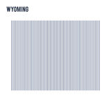 Vector abstract hatched map of State of Wyoming with vertical lines isolated on a white background. Travel vector illustration Stock Photos