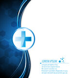Vector abstract health care innovation concept background Royalty Free Stock Images