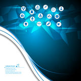 Vector abstract health care innovation medical concept background Stock Photography