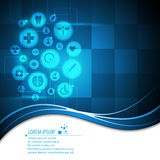 Vector abstract health care medical concept banner background. Eps 10 vector Royalty Free Stock Image