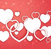 vector abstract hearts for Valentines day. Stock Images