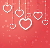 vector abstract hearts for Valentines day. Royalty Free Stock Photography