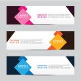 Vector abstract het Webmalplaatje van de geometrisch ontwerpbanner Modern ontwerp royalty-vrije illustratie
