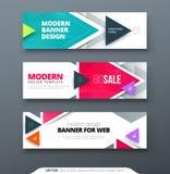 Vector abstract het Webmalplaatje van de het geometrische ontwerpbanner van het bannerontwerp Royalty-vrije Stock Fotografie