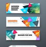 Vector abstract het Webmalplaatje van de het geometrische ontwerpbanner van het bannerontwerp Royalty-vrije Stock Afbeeldingen