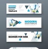 Vector abstract het Webmalplaatje van de het geometrische ontwerpbanner van het bannerontwerp Stock Fotografie