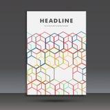 Vector abstract hexagon vastgesteld ontwerp Stock Foto