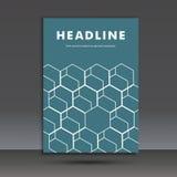 Vector abstract hexagon vastgesteld ontwerp Royalty-vrije Stock Foto