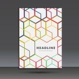 Vector abstract hexagon vastgesteld ontwerp Royalty-vrije Stock Fotografie