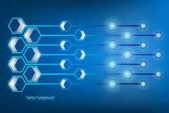 Vector Abstract Hexagonal Shapes Background Stock Photo