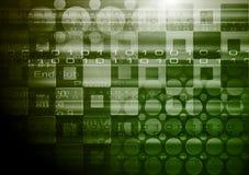 Vector abstract hi-tech backdrop. Dark green technology backdrop. Vector design eps 10 Stock Images