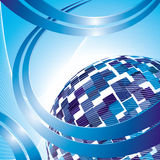 Vector abstract hi-tech background. Royalty Free Stock Photo