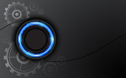 Vector abstract hi tech button working system concept background Stock Photography