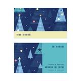 Vector abstract holiday christmas trees horizontal Stock Image