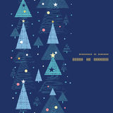 Vector abstract holiday christmas trees vertical Stock Images
