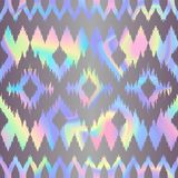 Abstract Holographic Geometric Seamless Pattern. Vector abstract holographic geometric seamless pattern. Fashion rainbow pastel background for cover, posters Royalty Free Stock Images
