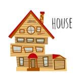 Vector abstract huis stock illustratie